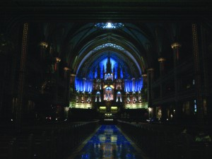 Inside of the Basilica.