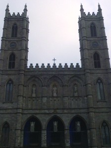Notre Dame Basilica in Montreal.