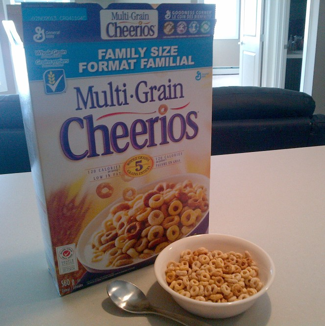 Multi-Grain Cheerios made from five whole grains.