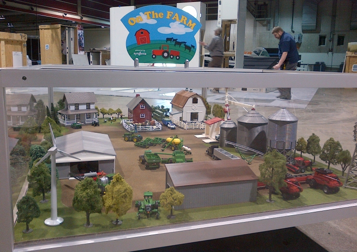 """On the farm"" A 1/64 scale model farm."