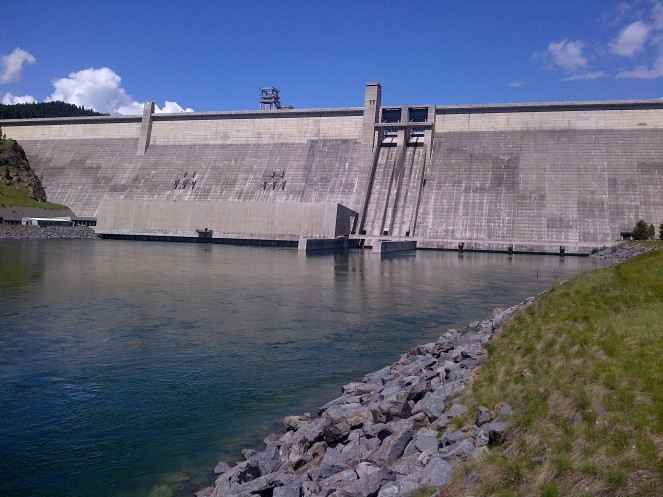The Libby Dam in northern Montana.