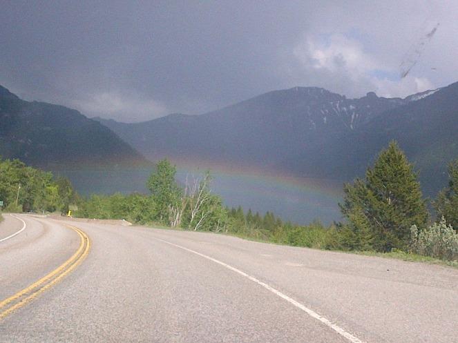 A rainbow in East Kootenay British Columbia.