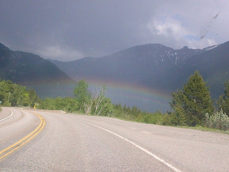 A rainbow in East Kootenay British Columbia.