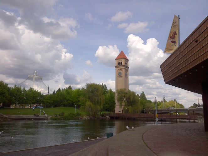 Riverfront Park - clock tower.