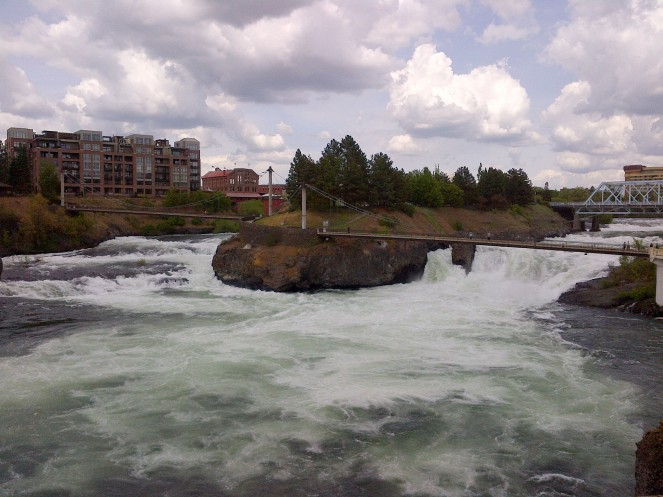 The upper Spokane Falls.