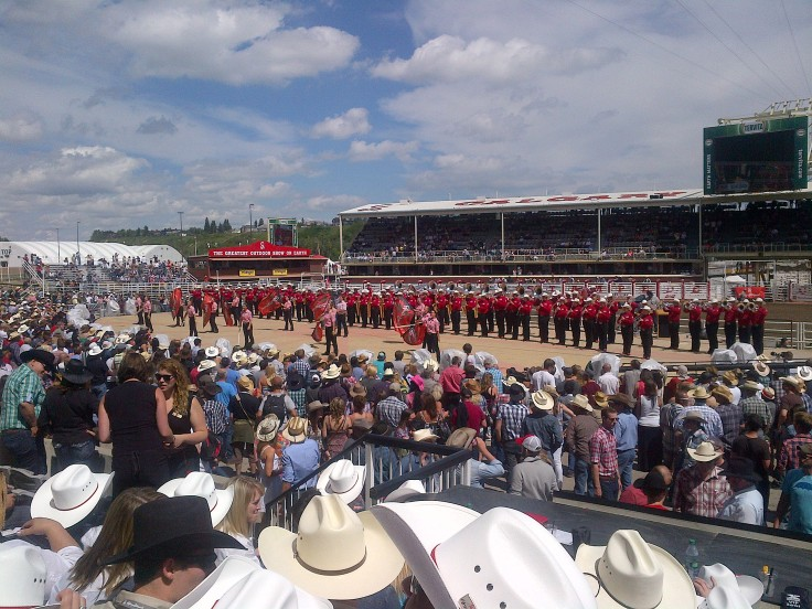 The Calgary Stampede showband.