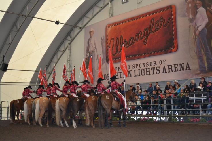 The Calgary Stampede showriders.