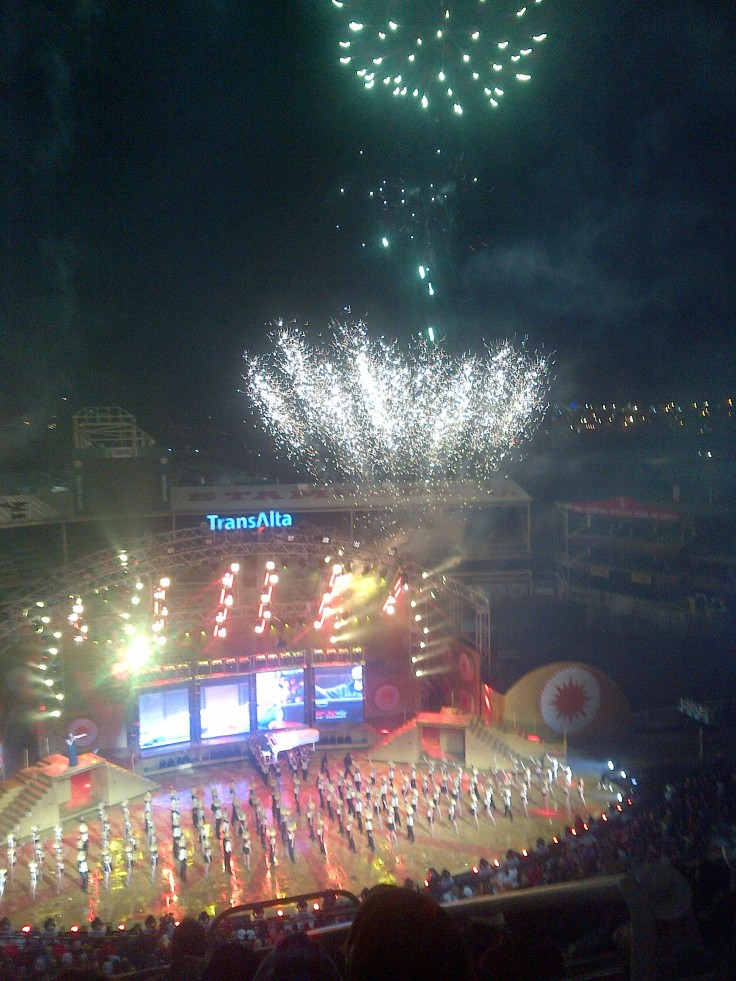 Amazing grandstand show and fireworks display!