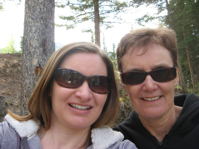 Mom and I in Banff National Park, Alberta.