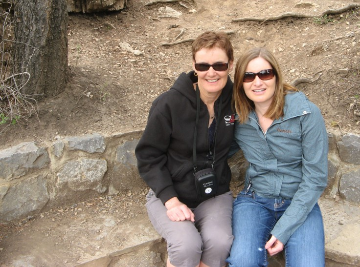 Mom and I in Kananakis Country, Alberta.