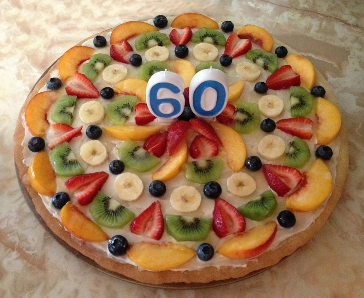 Birthday fruit pizza!