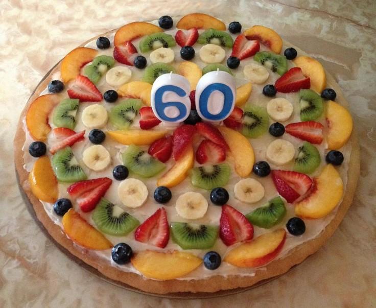 Birthday fruit pizza!