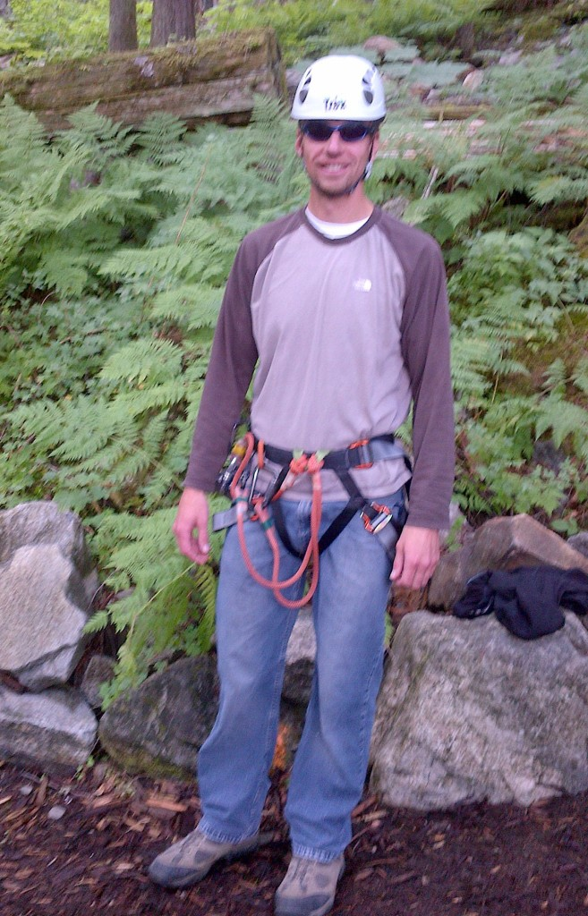Keith all geared up ready for the challenge.