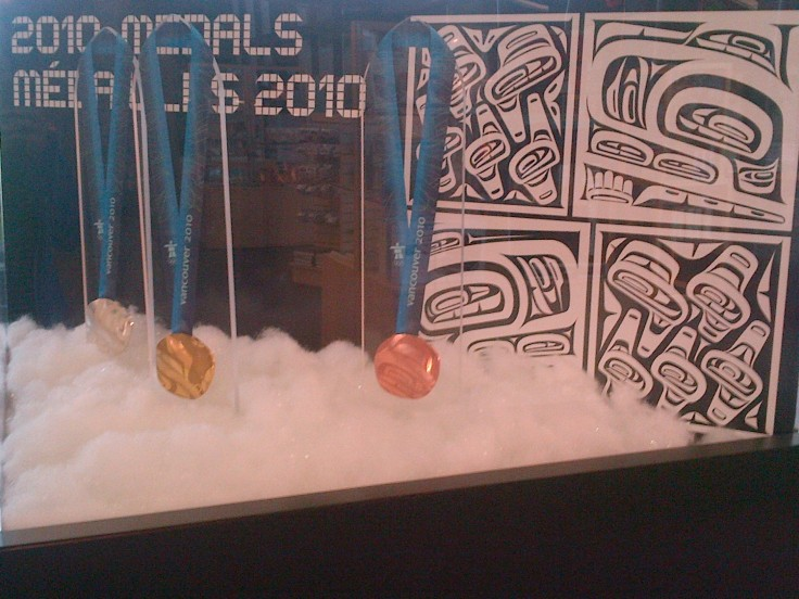 The 2010 Vancouver Winter Olympic medals.