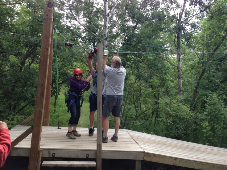 Survived the first zipline!