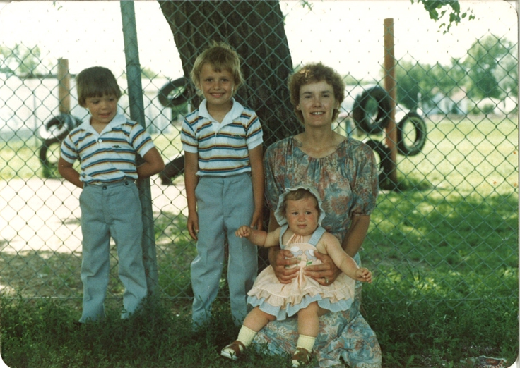 Mom and the kids - 1983