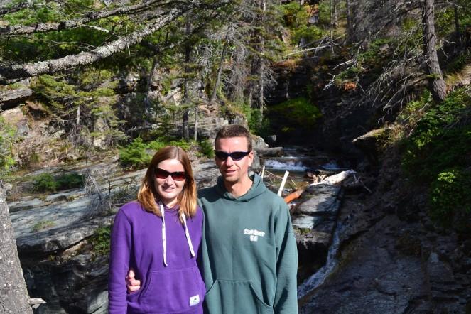 In Glacier National Park.