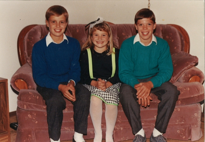 My brothers and me a few years later.