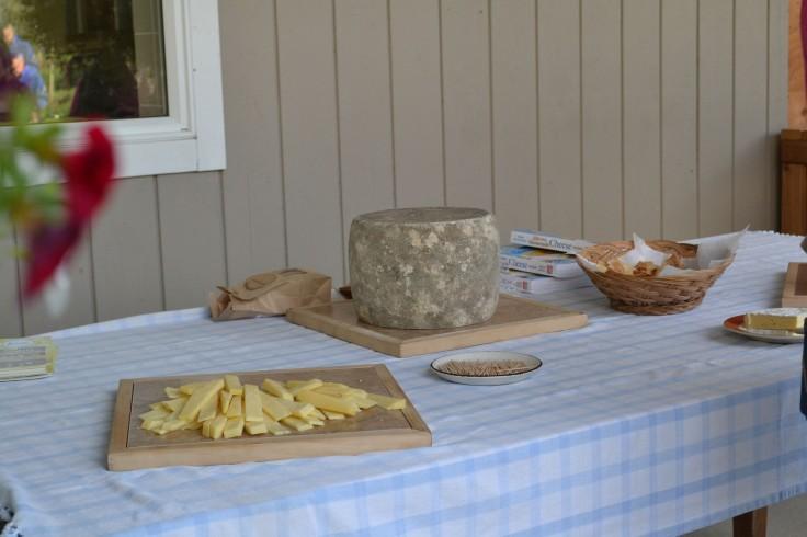 A delicious selection of artesian cheeses.