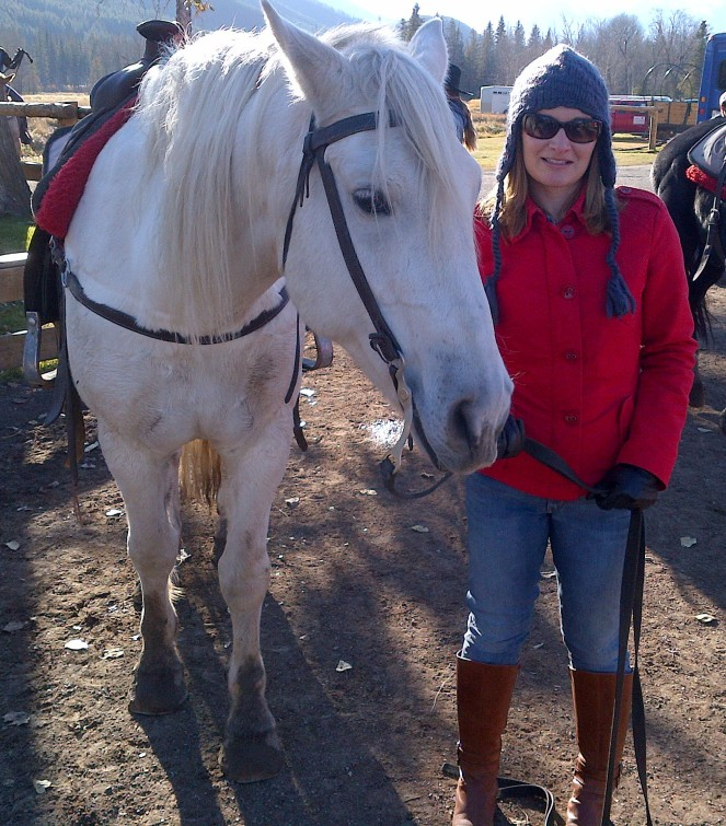 Snoopy and I after our trail ride.