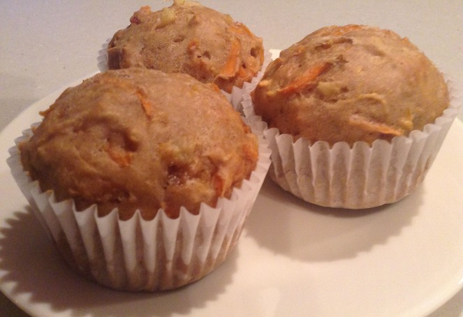 Pineapple carrot muffins.