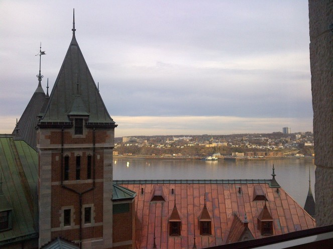 The view from my room in Chateau Frontenac.