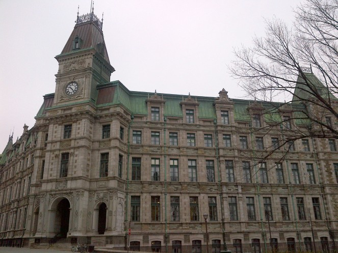A large historic building in Old Quebec.