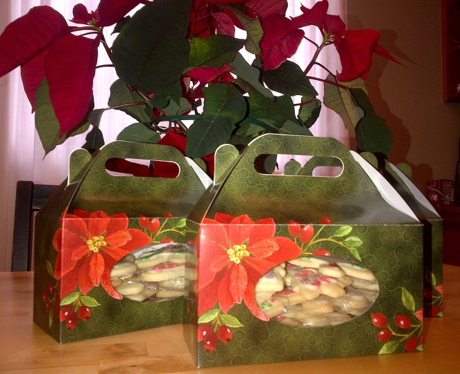 I found these Christmas cookie boxes recently. They're a great way to give away cookies at Christmas time.