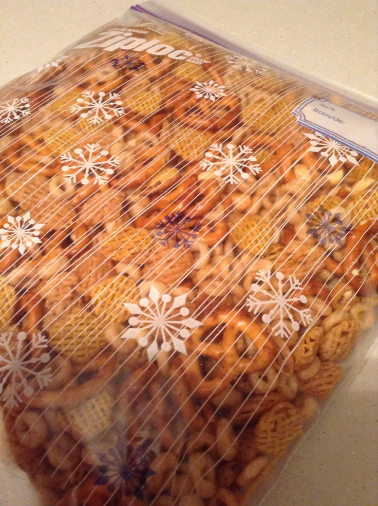 I packed up some of the snacks in these fun winter Ziploc bags for others.