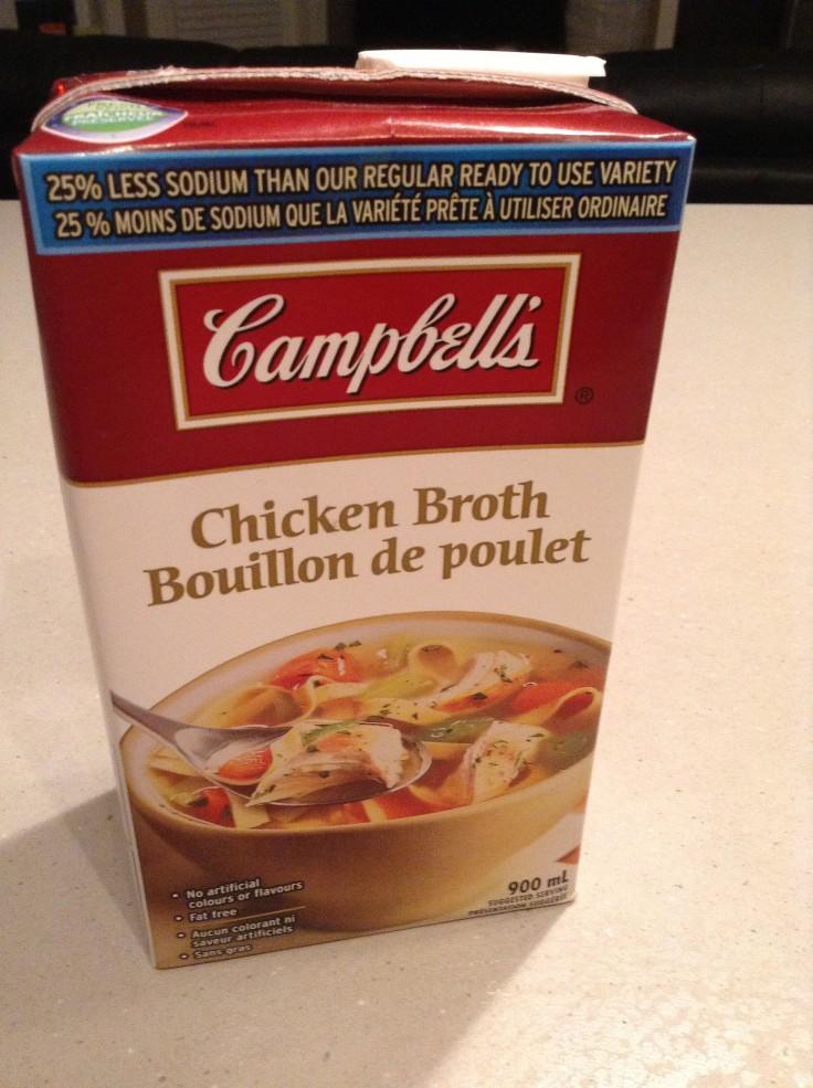 Chicken broth.