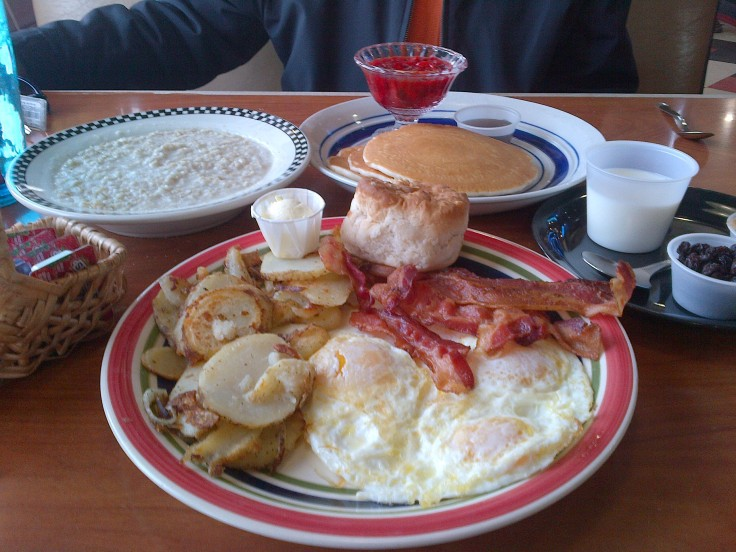 Breakfast at a 50's diner in Flagstaff, Arizona.