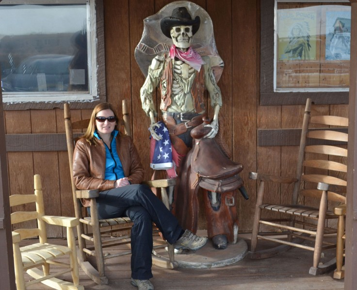 Just hanging out with the cowboy skeleton! This was actually in a different town not along Apache Trail but I thought it was a cool photo so I threw it in.