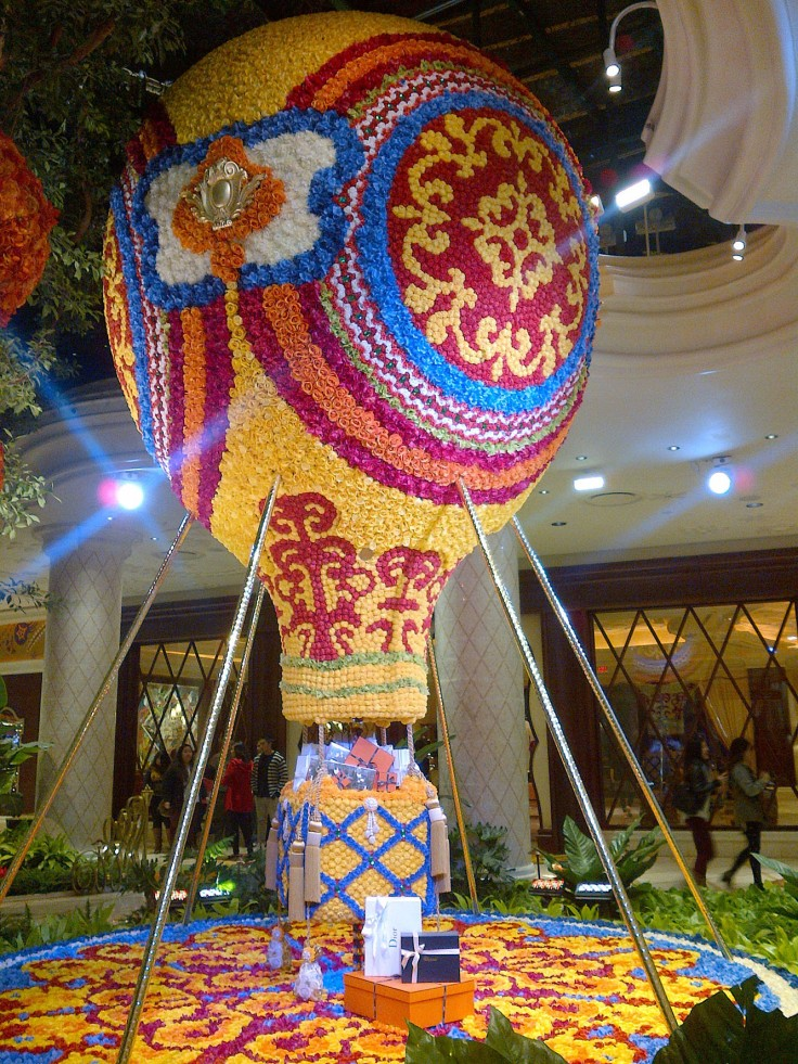 The Wynn created beautiful things out of flowers including this hot air balloon. Incredible!