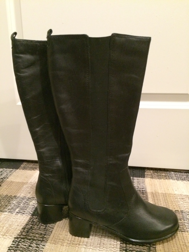 I love riding boots! And I love a good deal! Found these black leather riding boots recently on an end of the season sale. Nice!