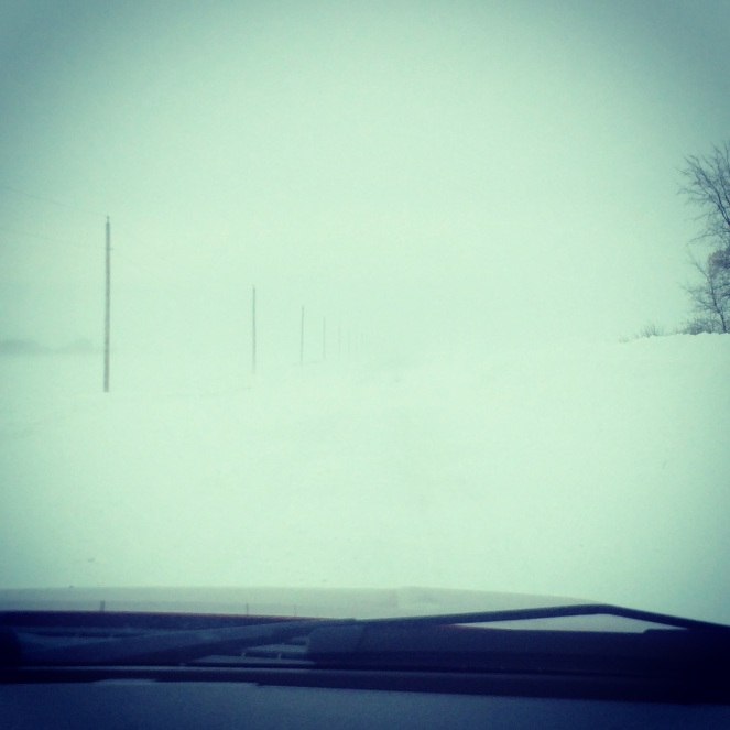 Blizzard conditions in Manitoba recently.