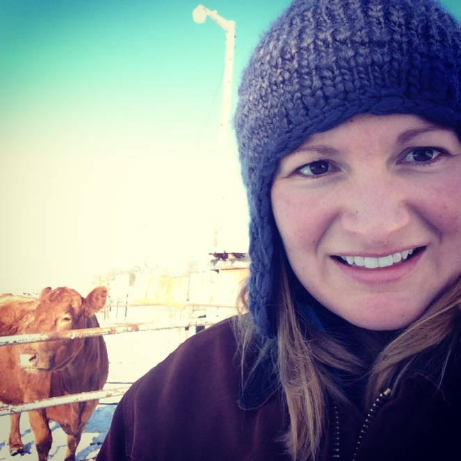 #felfie on the family farm with the cattle.