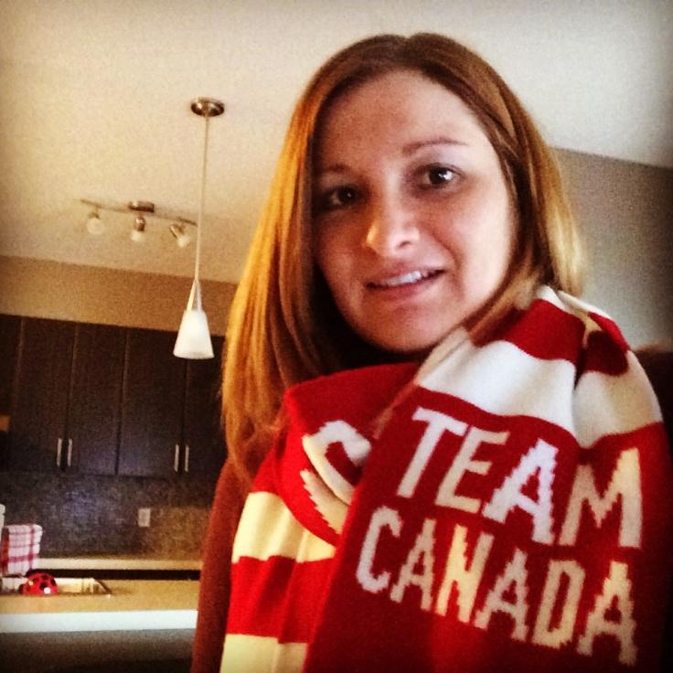 My Team Canada scarf!