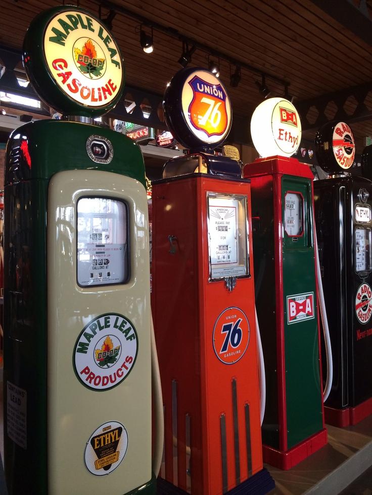 Gas pumps.