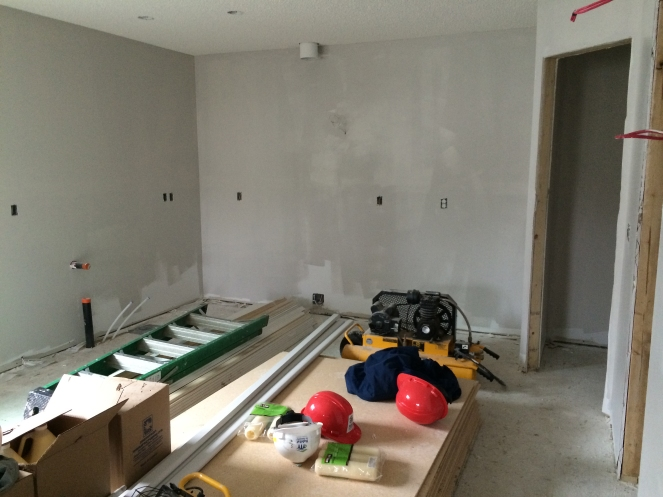 Some of the walls we primed and painted.