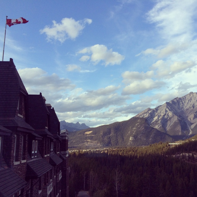 The Canadian flag flying outside my hotel room window on Wednesday, October 22, 2014.