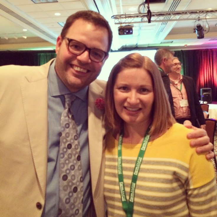 Highlight of my week was meeting Jay Baer at the conference. I've read his marketing book, Youtility: Why Smart Marketing is About Help, Not Hype.