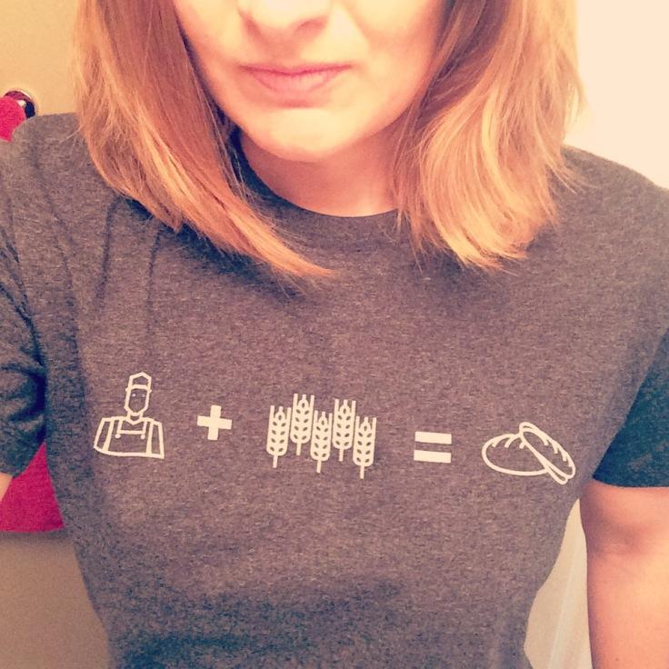 Sportin' my new t-shirt! Farmer + Wheat = Bread