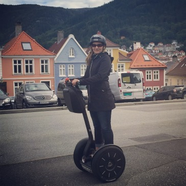 Rode about 12 kms on the hilly streets of Bergen.