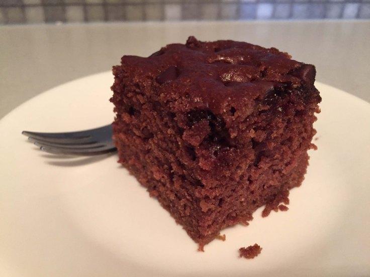Chocolate zucchini cake piece